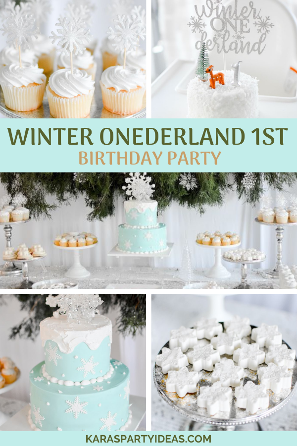 Winter ONEderland 1st Birthday Party via Kara's Party Ideas - KarasPartyIdeas.com
