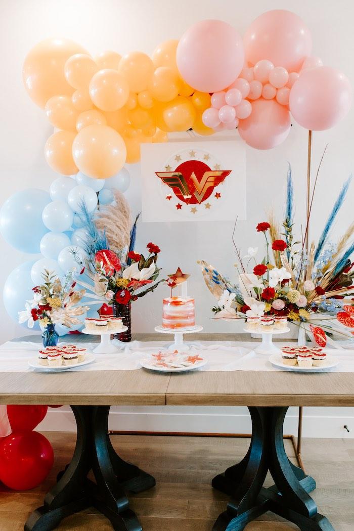 Wonder Woman Birthday Party on Kara's Party Ideas | KarasPartyIdeas.com (20)