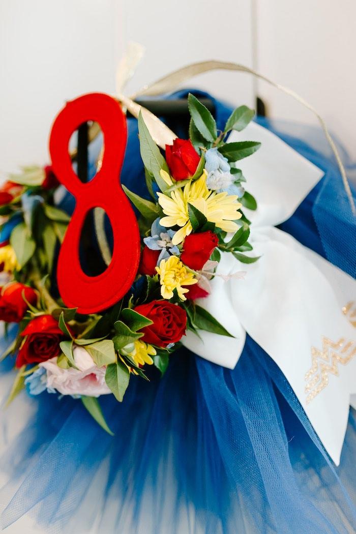 Wonder Woman Tutu + Birthday Girl Attire from a Wonder Woman Birthday Party on Kara's Party Ideas | KarasPartyIdeas.com (12)