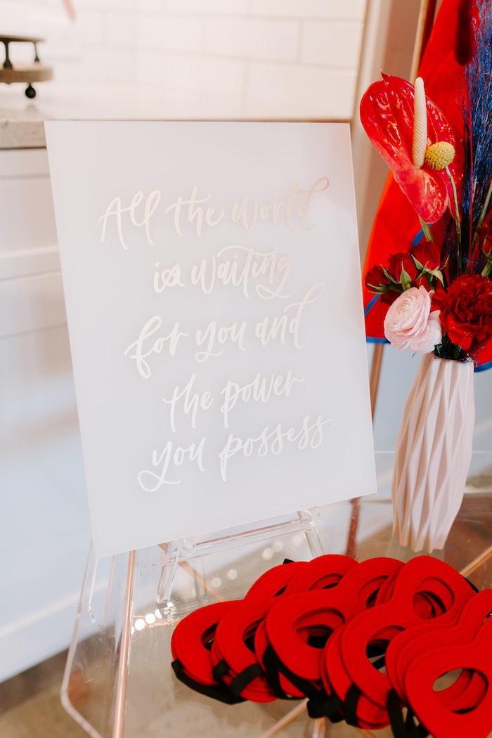 Signage from a Wonder Woman Birthday Party on Kara's Party Ideas | KarasPartyIdeas.com (22)