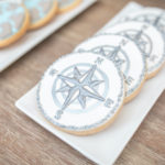 "Compass Cookies from a ""Welcome to the World"" Travel Baby Shower on Kara's Party Ideas 