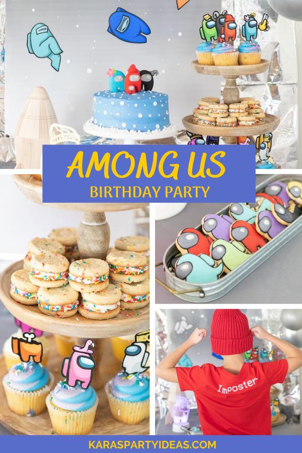 Among Us Birthday Party via Kara's Party Ideas - KarasPartyIdeas.com