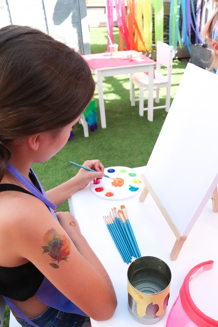 Backyard Rainbow Art Party on Kara's Party Ideas | KarasPartyIdeas.com (7)