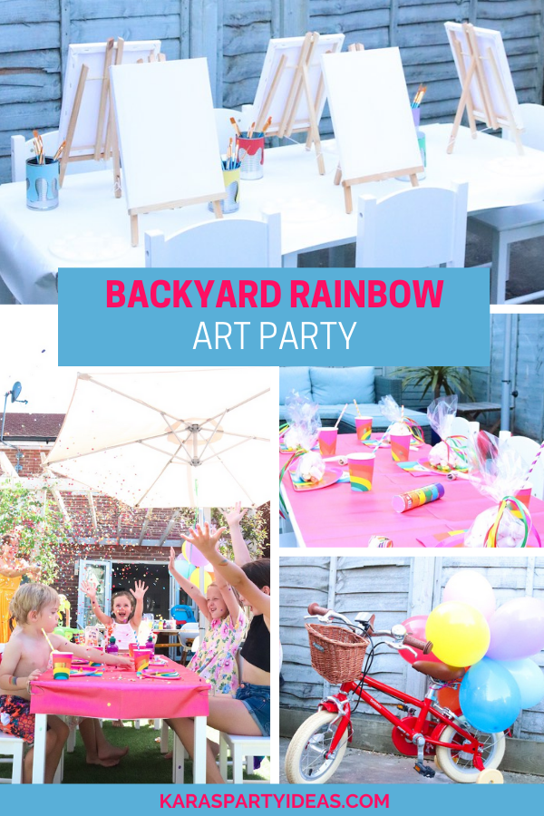Backyard Rainbow Art Party via Kara's Party Ideas - KarasPartyIdeas.com