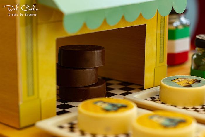 Luigi's Tire Oreos from a Cars + Radiator Springs Birthday Party on Kara's Party Ideas | KarasPartyIdeas.com (17)