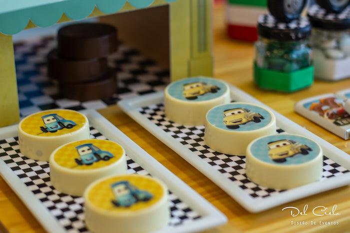 Luigi's Tire Oreos from a Cars + Radiator Springs Birthday Party on Kara's Party Ideas | KarasPartyIdeas.com (15)