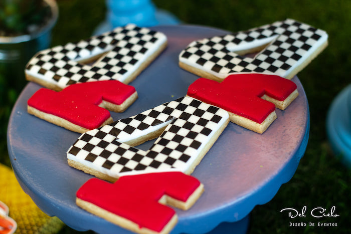 Racer Check 4 Cookies from a Cars + Radiator Springs Birthday Party on Kara's Party Ideas | KarasPartyIdeas.com (12)