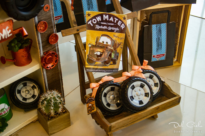 Mater Tire Favors from a Cars + Radiator Springs Birthday Party on Kara's Party Ideas | KarasPartyIdeas.com (28)