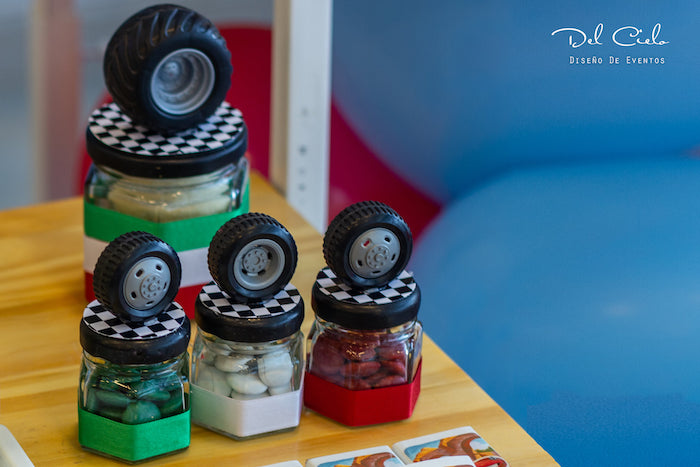 Tire Candy Favor Jars from a Cars + Radiator Springs Birthday Party on Kara's Party Ideas | KarasPartyIdeas.com (9)