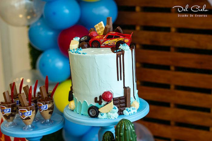 Cars Themed Birthday Cake from a Cars + Radiator Springs Birthday Party on Kara's Party Ideas | KarasPartyIdeas.com (7)
