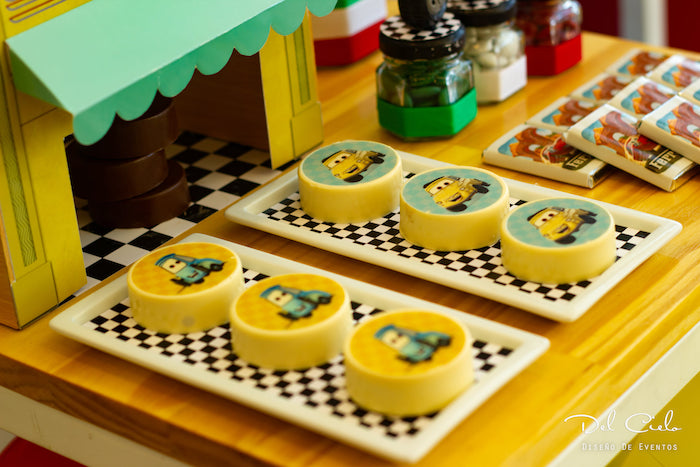 Luigi's Tire Shop Oreos from a Cars + Radiator Springs Birthday Party on Kara's Party Ideas | KarasPartyIdeas.com (25)