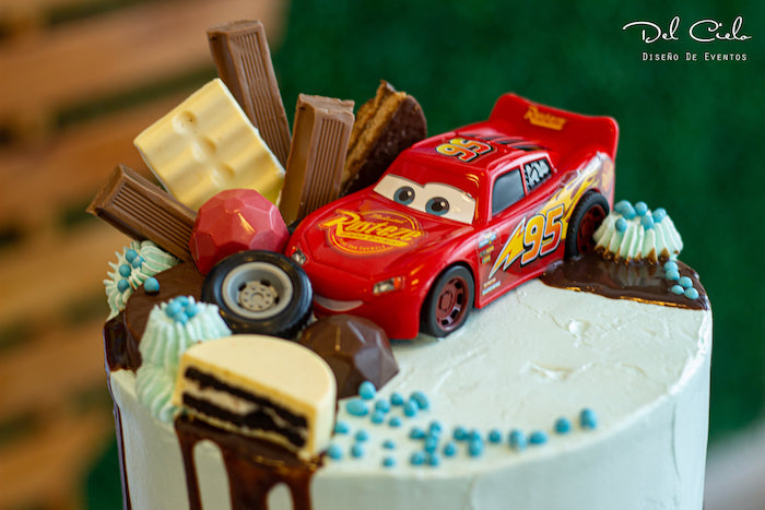 Lightning McQueen Cake Topper from a Cars + Radiator Springs Birthday Party on Kara's Party Ideas | KarasPartyIdeas.com (22)