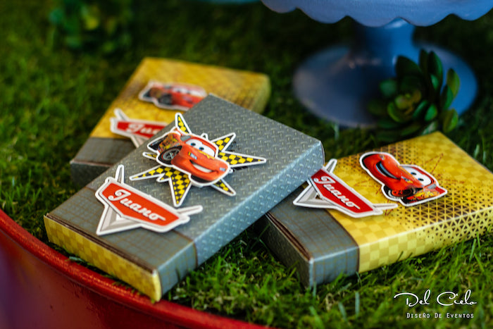 Lightning McQueen Candy Bars + Favors from a Cars + Radiator Springs Birthday Party on Kara's Party Ideas | KarasPartyIdeas.com (21)