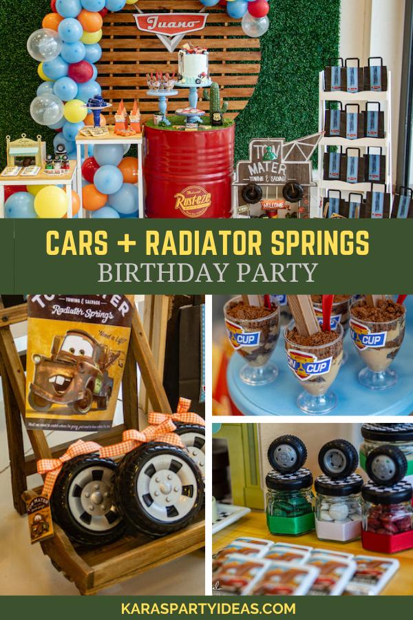 Cars + Radiator Springs Birthday Party via Kara's Party Ideas - KarasPartyIdeas.com