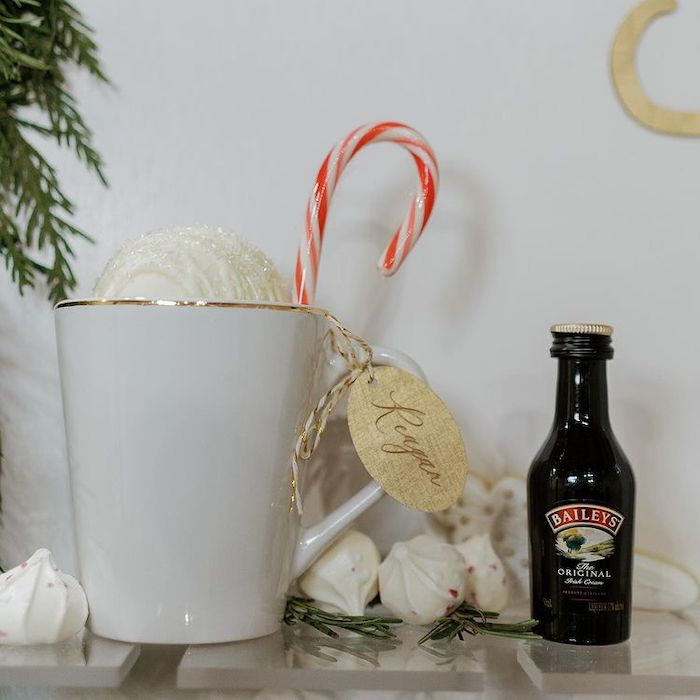 Personally Tagged Hot Cocoa Bomb Favor Cup from a Cozy & Chic Winter Dinner Party on Kara's Party Ideas   KarasPartyIdeas.com (7)