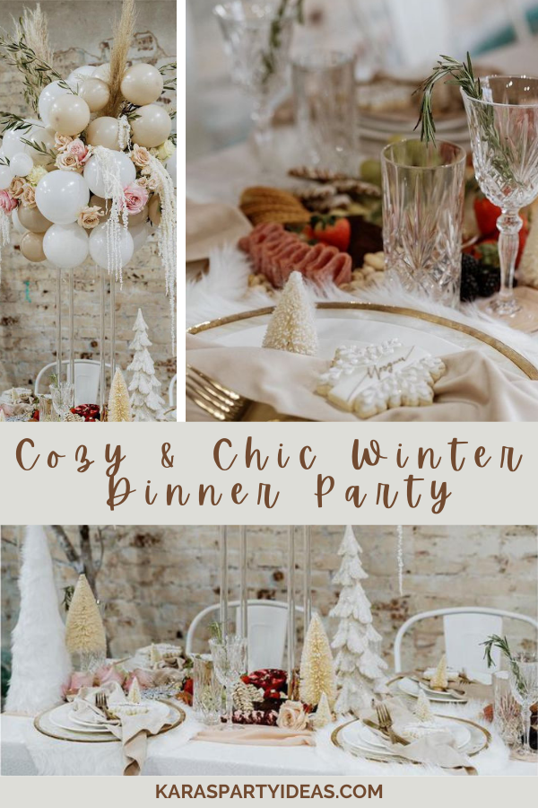 Cozy & Chic Winter Dinner Party via Kara's Party Ideas - KarasPartyIdeas.com