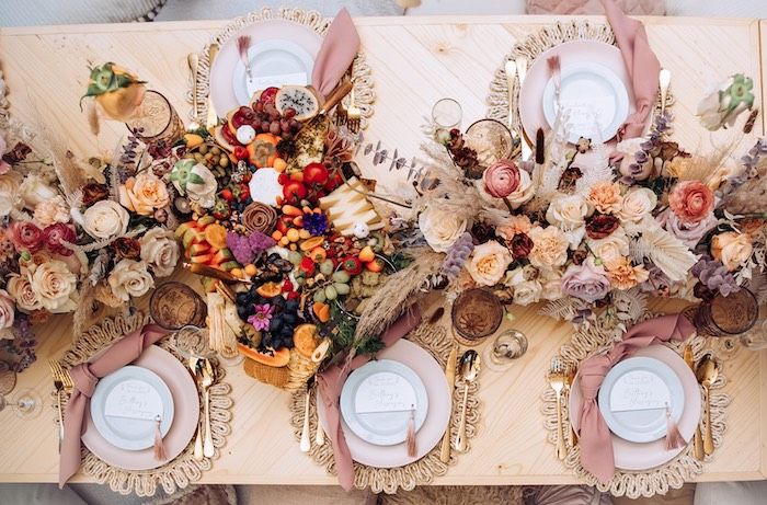 Boho Guest Table from an Elegant Bohemian Blessingway on Kara's Party Ideas | KarasPartyIdeas.com (20)