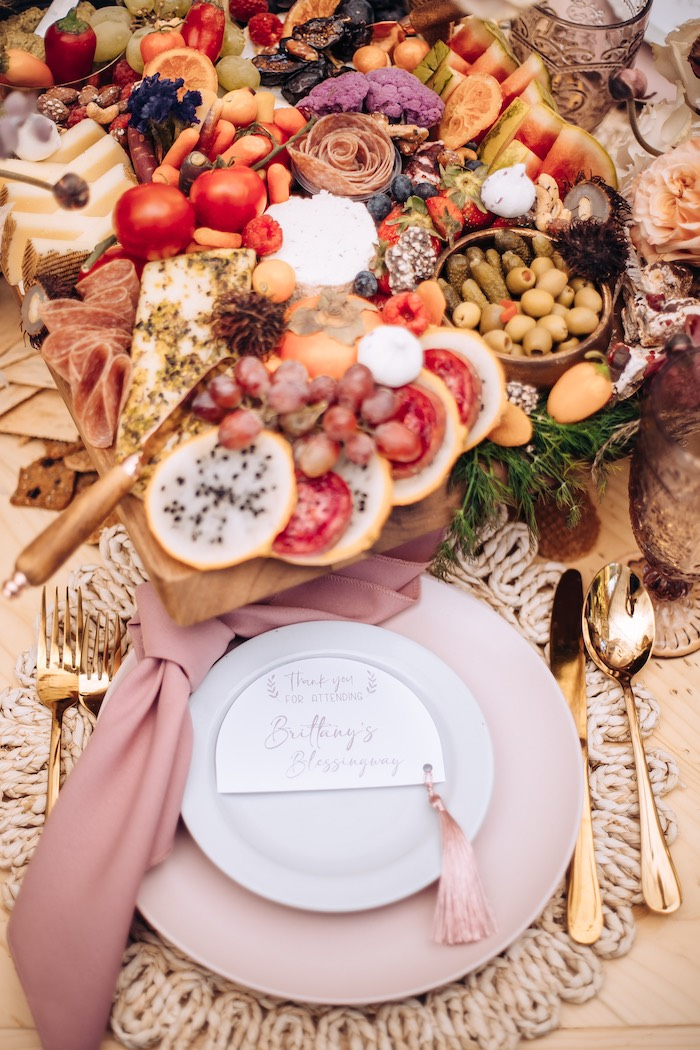 Boho Table Setting from an Elegant Bohemian Blessingway on Kara's Party Ideas | KarasPartyIdeas.com (28)