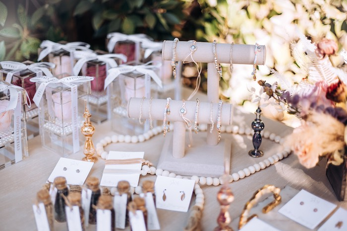 Jewelry Favors from an Elegant Bohemian Blessingway on Kara's Party Ideas | KarasPartyIdeas.com (25)