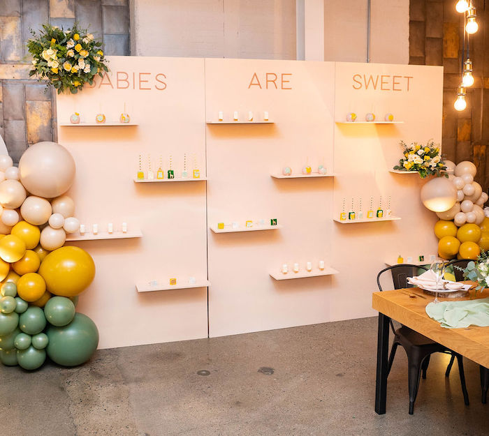 Dessert Wall from an Elegant Rustic Garden Baby Shower on Kara's Party Ideas | KarasPartyIdeas.com (44)