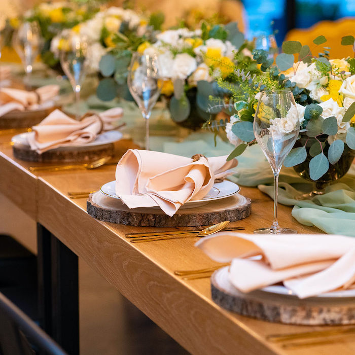 Rustic Elegant Guest Table from an Elegant Rustic Garden Baby Shower on Kara's Party Ideas | KarasPartyIdeas.com (21)