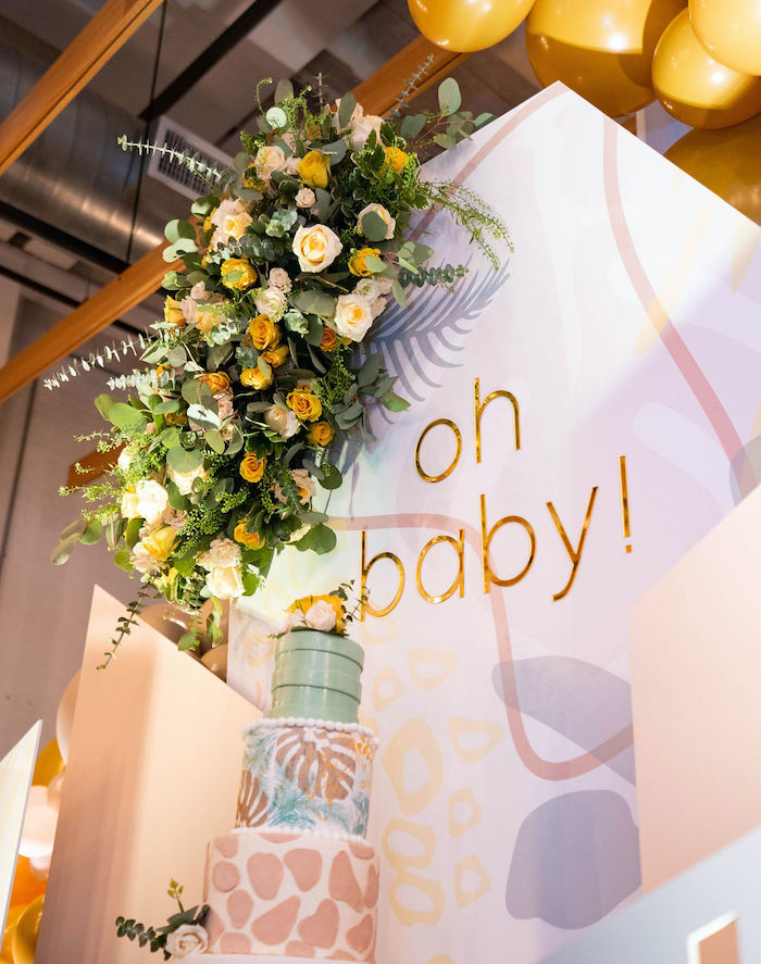Oh Baby Backdrop from an Elegant Rustic Garden Baby Shower on Kara's Party Ideas | KarasPartyIdeas.com (15)