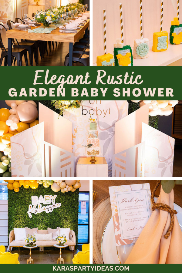 Elegant Rustic Garden Baby Shower via Kara's Party Ideas - KarasPartyIdeas.com