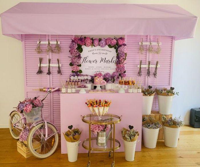 Flower Market Party on Kara's Party Ideas   KarasPartyIdeas.com (12)