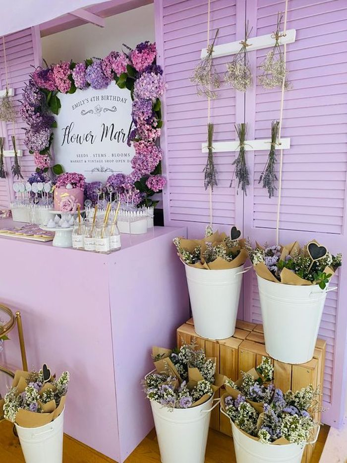Floral Bouquets & Bunches from a Flower Market Party on Kara's Party Ideas | KarasPartyIdeas.com (17)