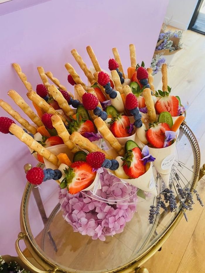 Floral Bouquet Fruit Kabobs from a Flower Market Party on Kara's Party Ideas | KarasPartyIdeas.com (15)