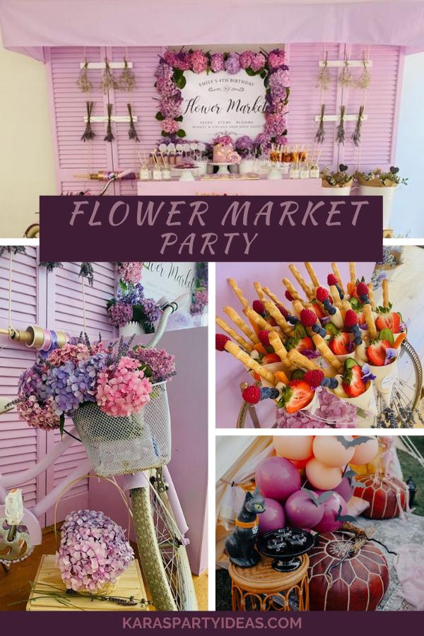 Flower Market Party via Kara's Party Ideas - KarasPartyIdeas.com