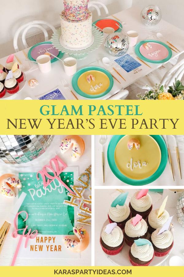 Glam Pastel New Year's Eve Party via Kara's Party Ideas - KarasPartyIdeas.com