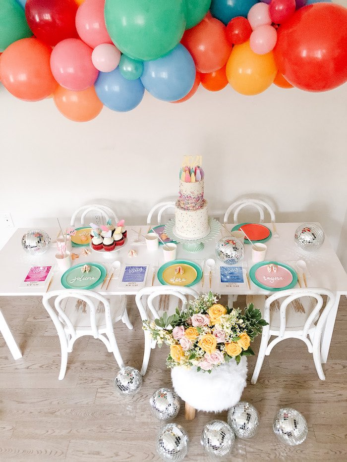 Glam Pastel New Year's Eve Party on Kara's Party Ideas | KarasPartyIdeas.com (6)