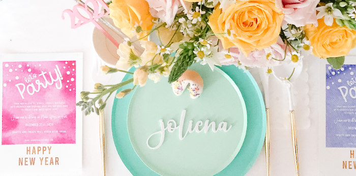 Glam Pastel New Year's Eve Party on Kara's Party Ideas | KarasPartyIdeas.com (1)