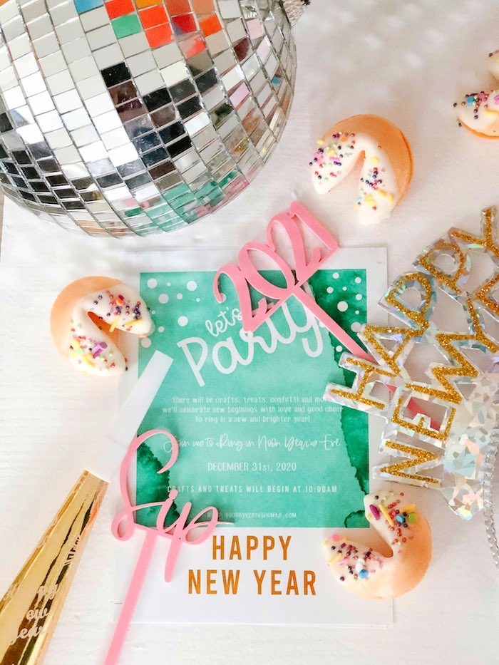 PARTY Invite from a Glam Pastel New Year's Eve Party on Kara's Party Ideas | KarasPartyIdeas.com (16)