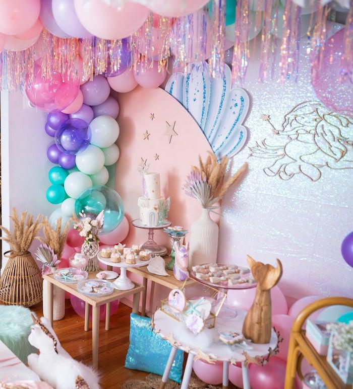 Magical Mermaids & Unicorns Party on Kara's Party Ideas | KarasPartyIdeas.com (16)
