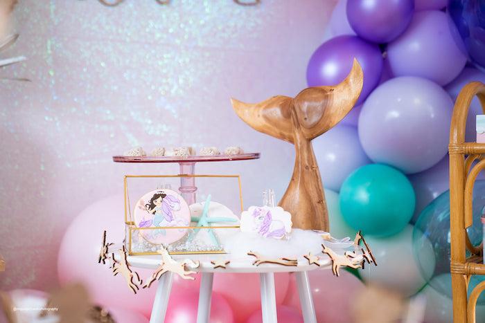 Mermaid Dessert Table from a Magical Mermaids & Unicorns Party on Kara's Party Ideas | KarasPartyIdeas.com (13)