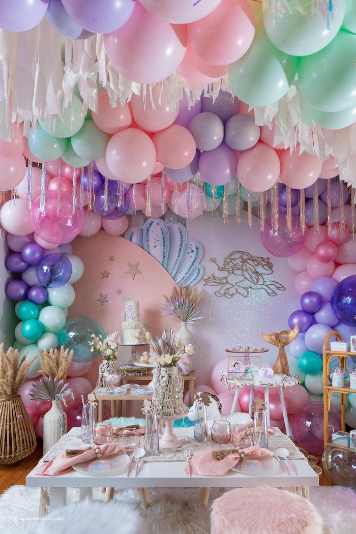Magical Mermaids & Unicorns Party on Kara's Party Ideas | KarasPartyIdeas.com (10)