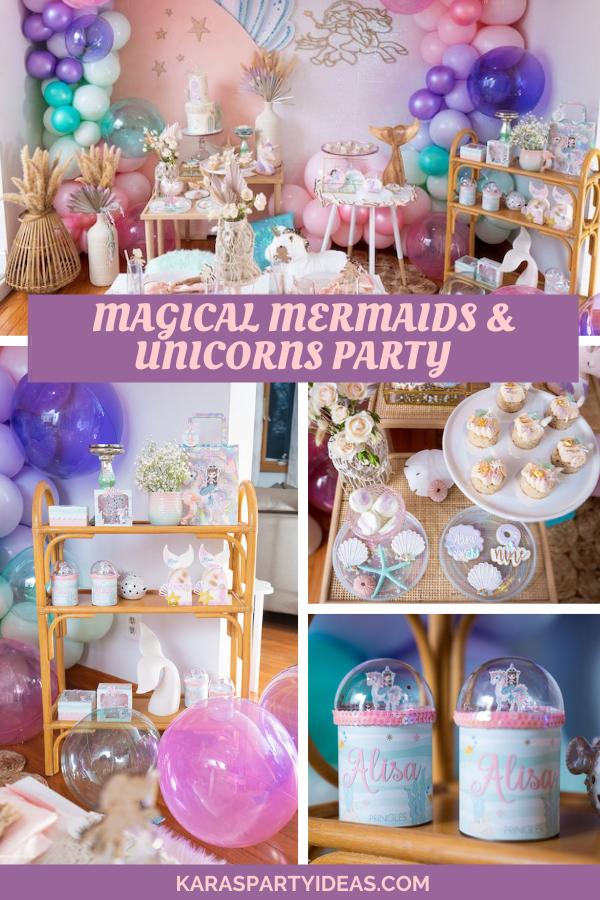 Magical Mermaids & Unicorns Party via Kara's Party Ideas - KarasPartyIdeas.com