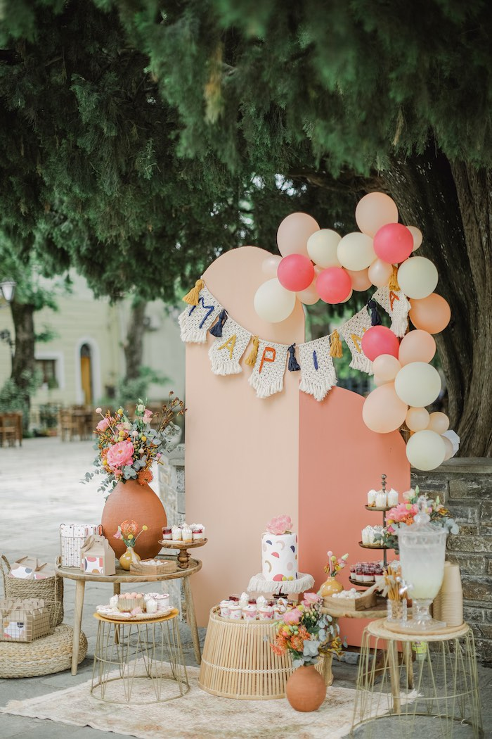 Modern Boho Christening Party on Kara's Party Ideas | KarasPartyIdeas.com (25)