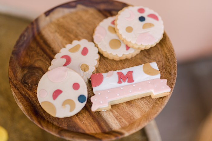Cookies from a Modern Boho Christening Party on Kara's Party Ideas | KarasPartyIdeas.com (11)