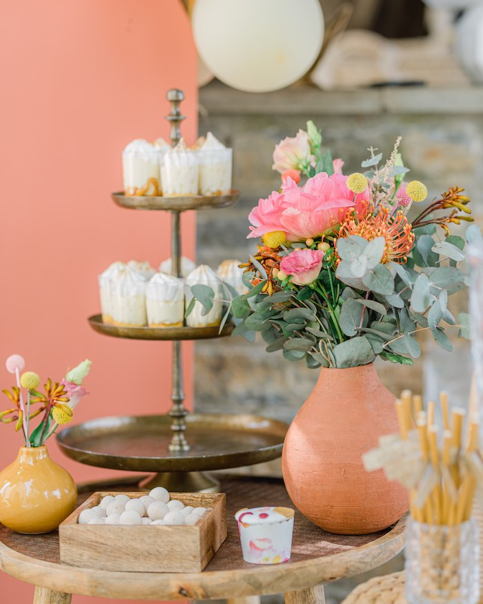 Boho Dessert Table from a Modern Boho Christening Party on Kara's Party Ideas | KarasPartyIdeas.com (9)
