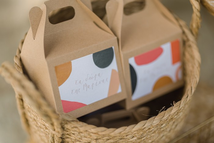 Geometric-Gable Favor Boxes from a Modern Boho Christening Party on Kara's Party Ideas | KarasPartyIdeas.com (7)