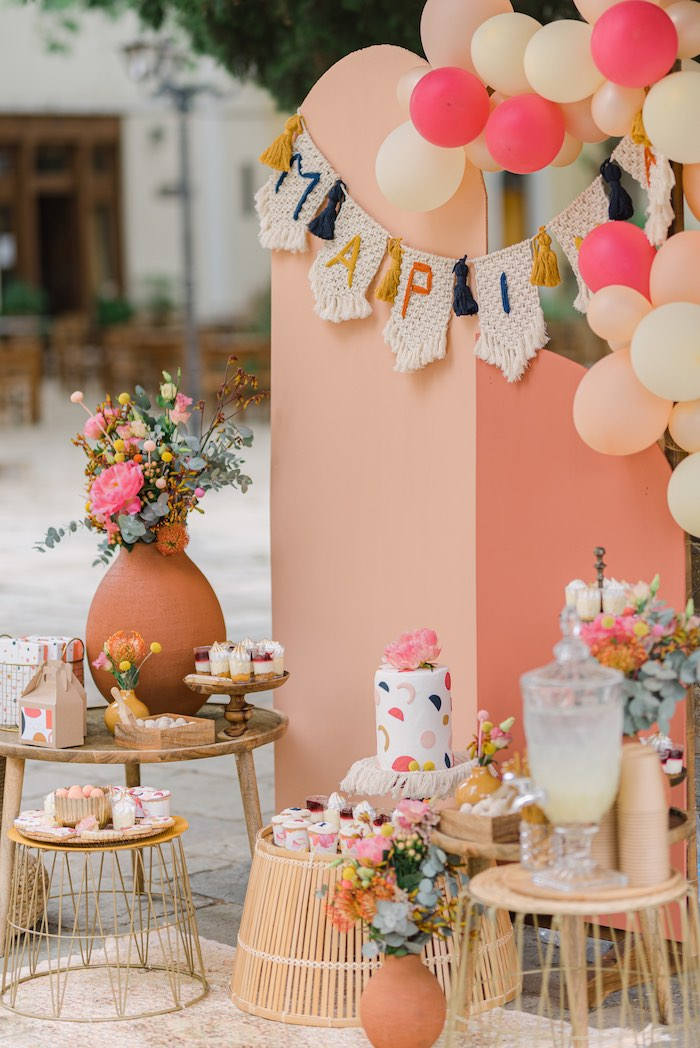Modern Boho Christening Party on Kara's Party Ideas | KarasPartyIdeas.com (5)