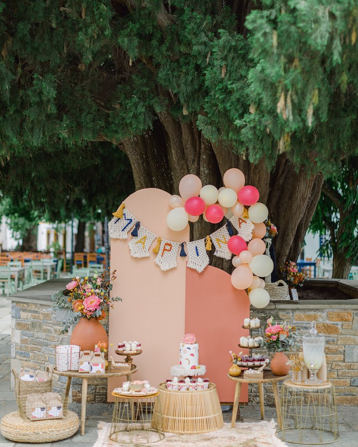 Modern Boho Christening Party on Kara's Party Ideas | KarasPartyIdeas.com (26)