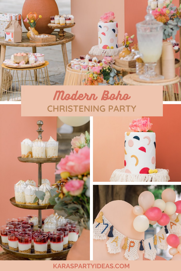 Modern Boho Christening Party via Kara's Party Ideas - KarasPartyIdeas.com