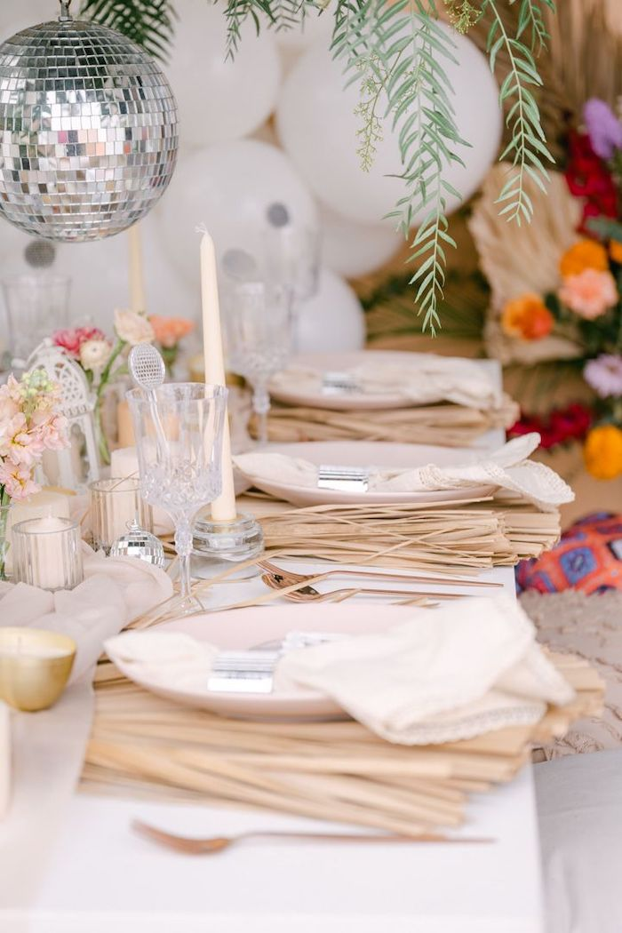 """Guest Tablescape from a NYE """"We Made It to 2021"""" Party on Kara's Party Ideas 