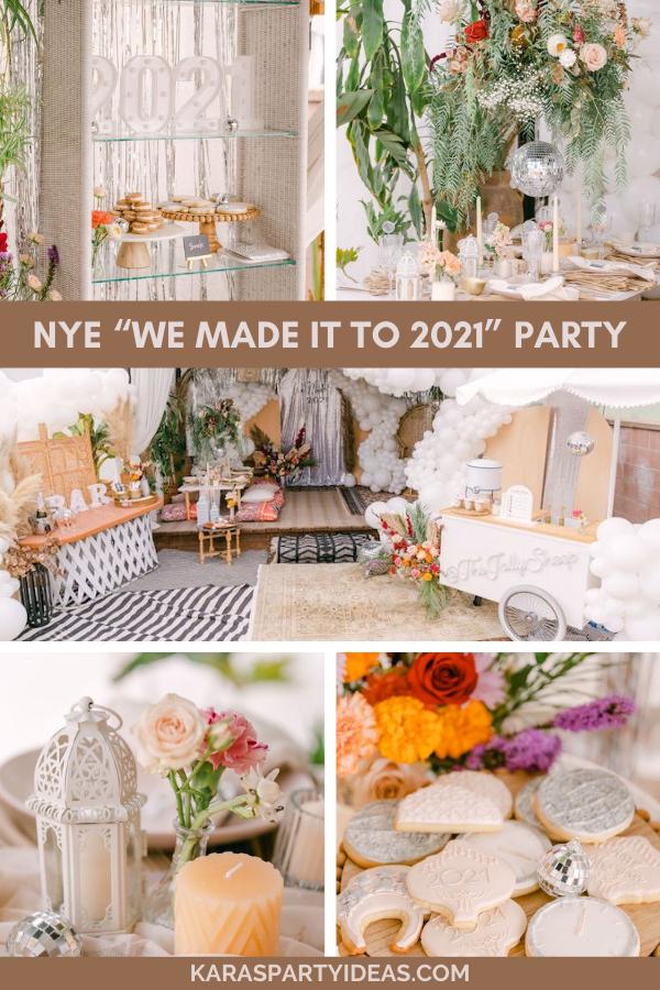 "NYE ""We Made it to 2021"" Party via Kara's Party Ideas - KarasPartyIdeas.com"