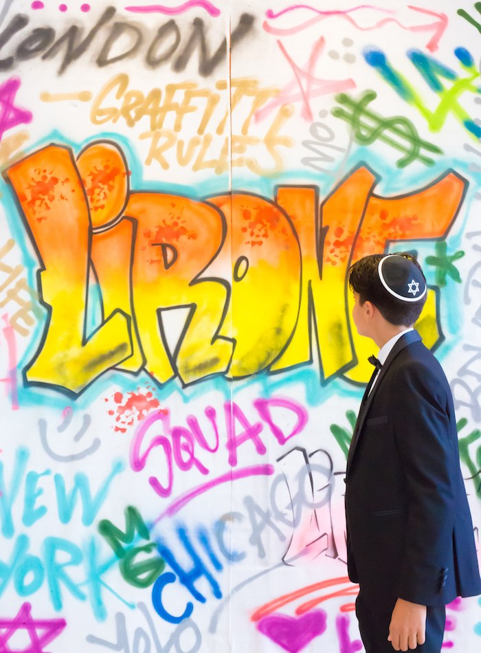 Graffiti Wall Backdrop from a Neon Graffiti Birthday Party on Kara's Party Ideas   KarasPartyIdeas.com (12)