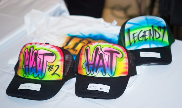 Personalized Graffiti Hat Favors from a Neon Graffiti Birthday Party on Kara's Party Ideas   KarasPartyIdeas.com (10)